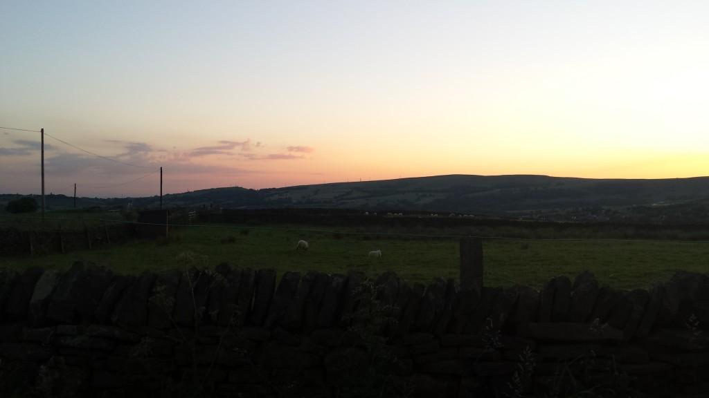 sunset over padfield